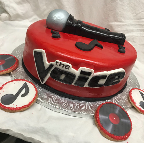 The Voice Cake and Cookies