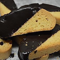 Chocolate Dipped Mandel Bread, 1 lb