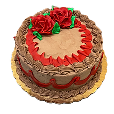 Vanilla Cake, Chocolate icing