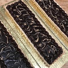 Long Chocolate Caramel Ganache tart