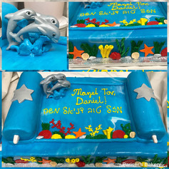 Dolphin Bar Mitzvah Cake