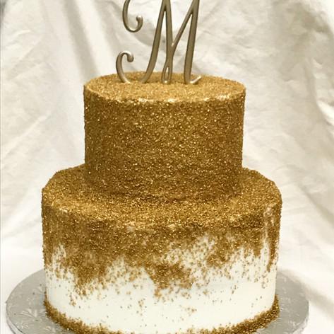 Gold Bat Mitzvah Cake