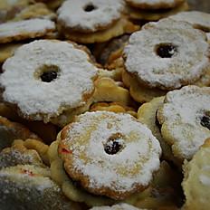 Raspberry Linzer Cookies, lb