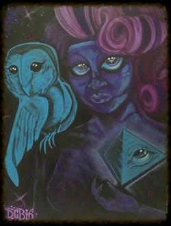 """Future Prey"" 18 x 24 acrylic on canvas"