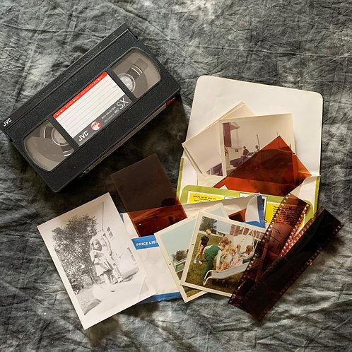 Digitize Package (VHS, 25 Photos, 24 Negatives)
