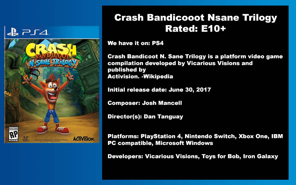 W- DESCRIPTION - Crash Bandicooot N Sane
