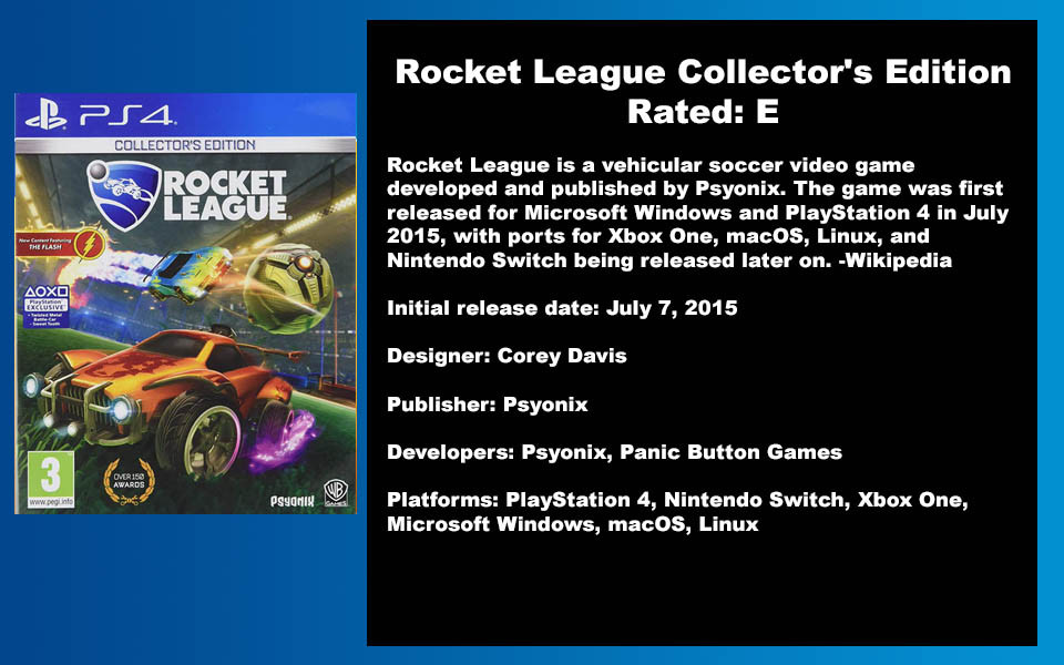 W- DESCRIPTION - Rocket League Collector