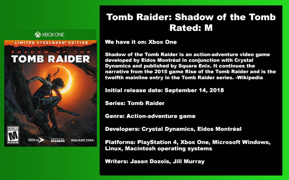 W-Description - Tomb Raider Shadow of th