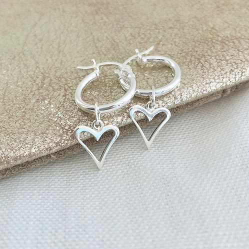 Heart Maxi Hoop Earrings