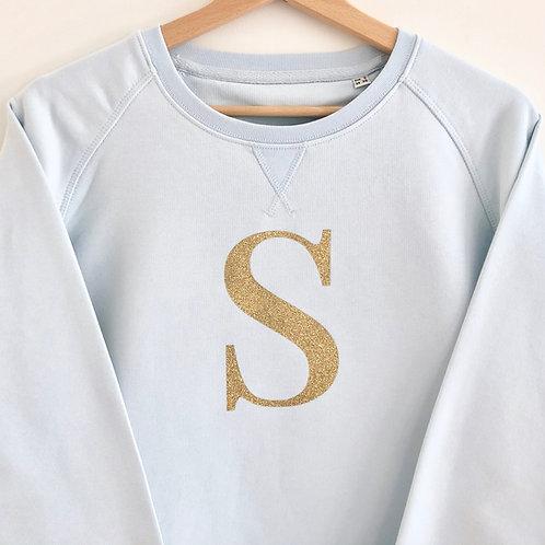 Glitter Letter Sweatshirt