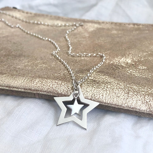 Open Star Charm Necklace