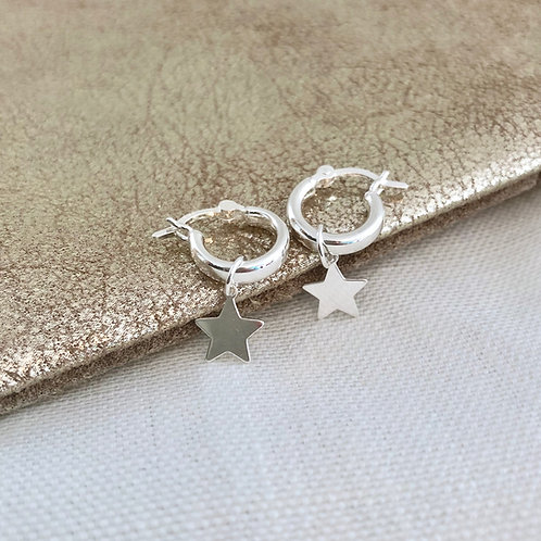 Star Midi Hoop Earrings