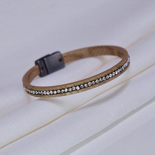 Taupe Strand Sparkle Bracelet