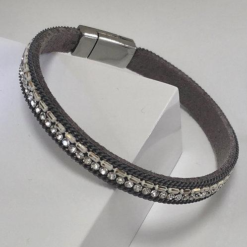 Grey Strand Sparkle Bracelet