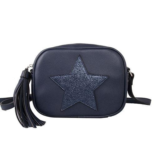 Navy Star Cross Body Bag