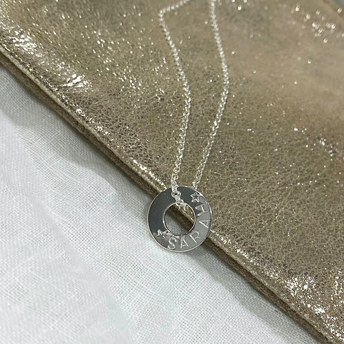 Personalised Ring Necklace