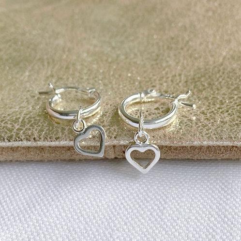 Tiny Heart Midi Hoops