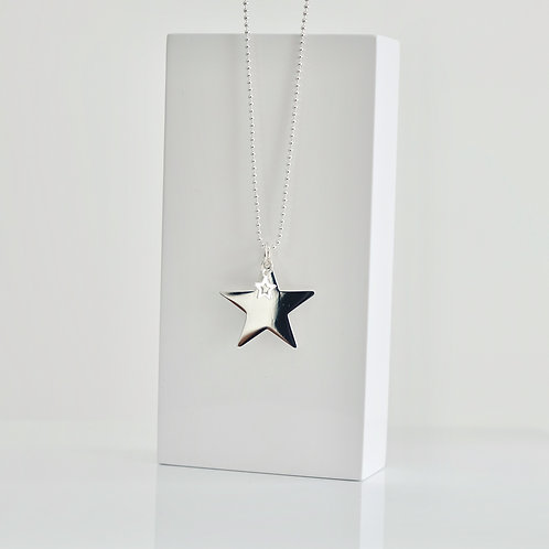 Long Star Charm Necklace