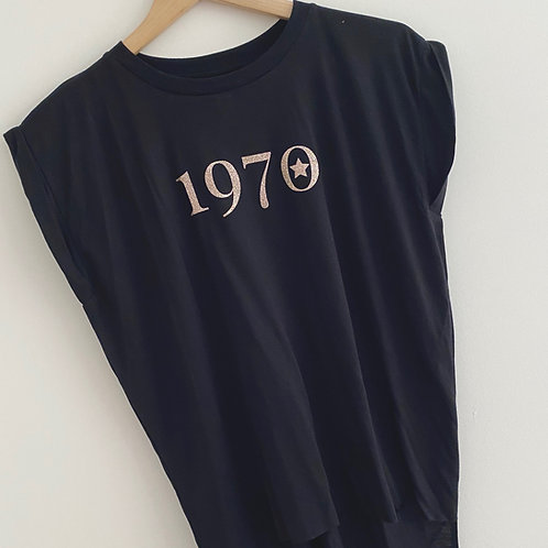 1970 Glitter T-Shirt by Beth Goodrham