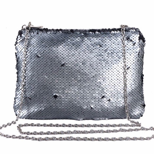 Grey Sequin Bag