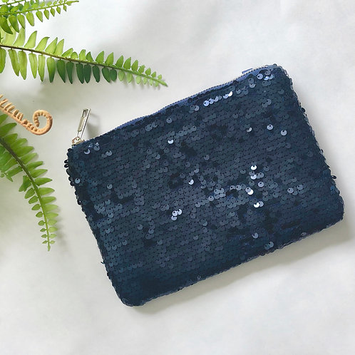 Navy Sequin Bag