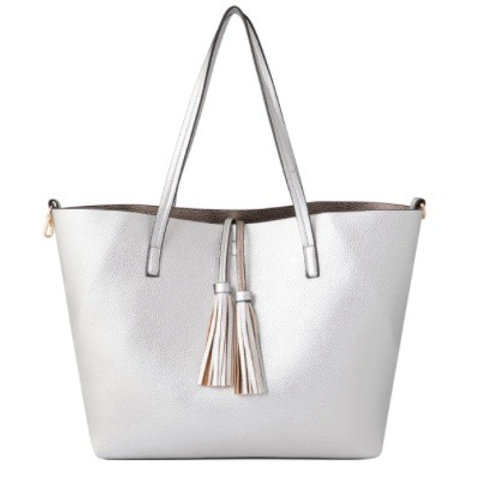 Silver Tote Duet Bags