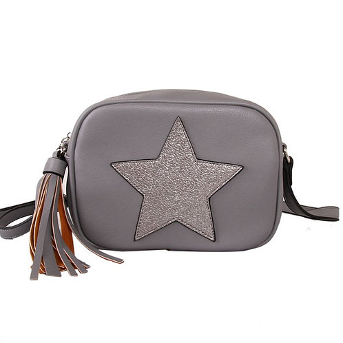 Grey Star Cross Body Bag