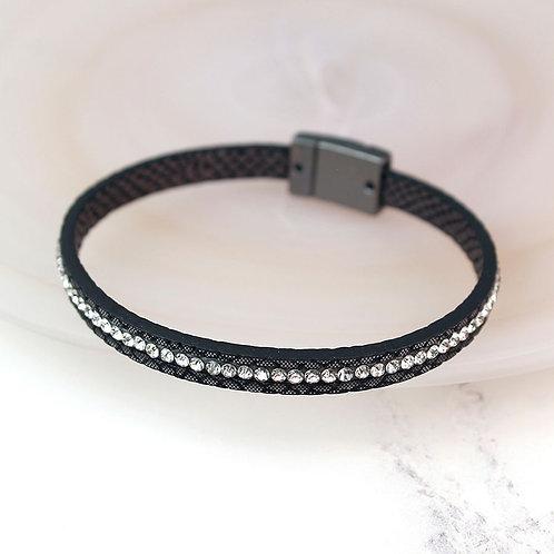 Charcoal Strand Sparkle Bracelet