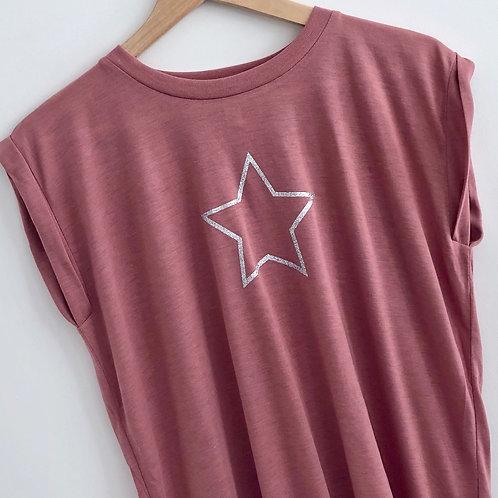 Rose Open Star T-Shirt