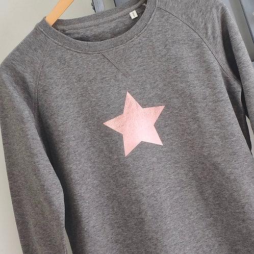 Smoke Rose Gold Star Sweatshirt