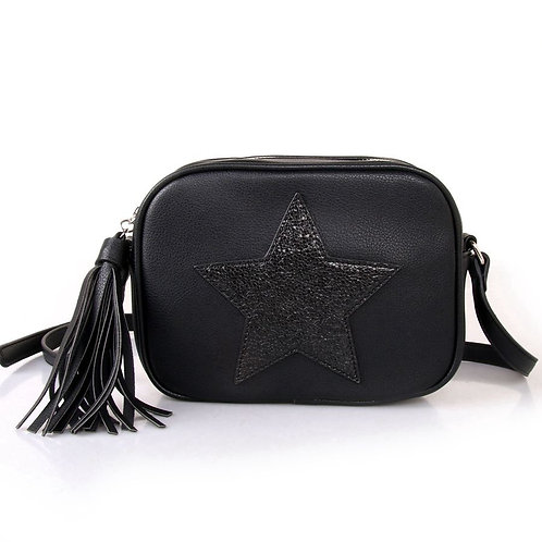 Black Star Cross Body Bag