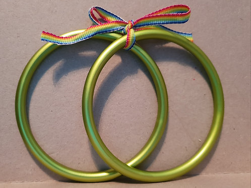 Large Sling Rings - Light Green