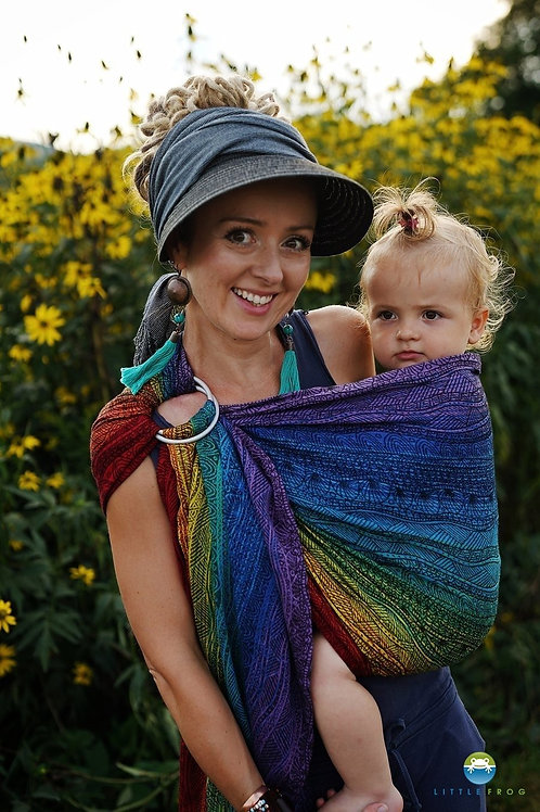 Rainbow Harmony Ring Sling M - Little Frog