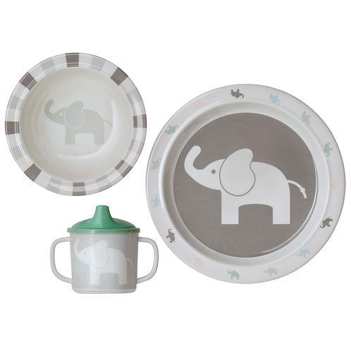 Elephant 3pc Dinner Set - Rätt Start