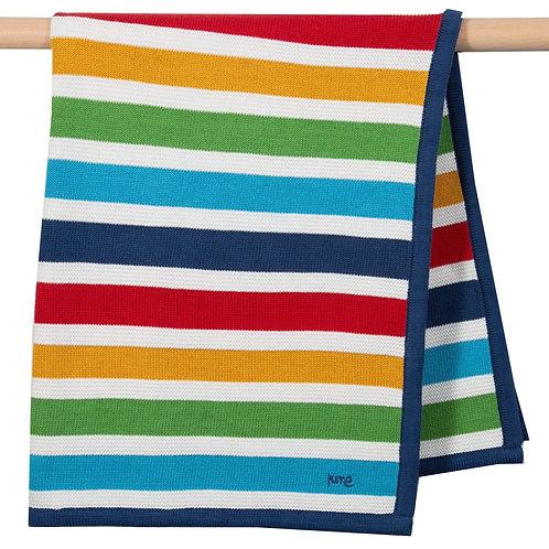 Bright Stripe Knit Blanket - Kite