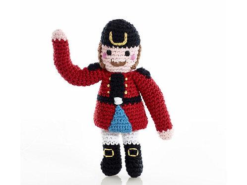 Nutcracker - Crocheted Christmas Rattle - Pebble Toys