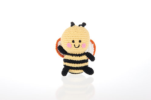 Bee - Knitted Baby Rattle - Pebble Toys