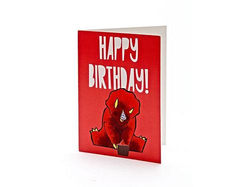 Triceratops Cake Birthday Card - Best Years