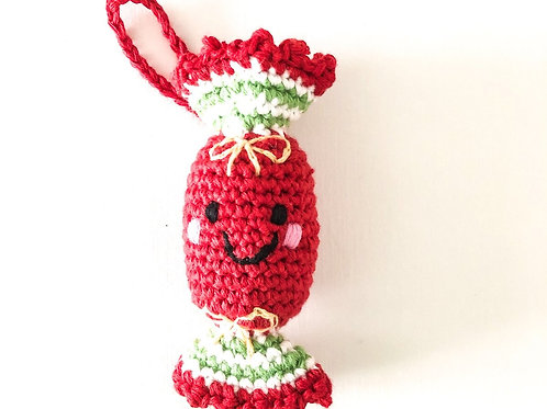 Christmas Cracker - Knitted Christmas Decoration - Pebble Toys