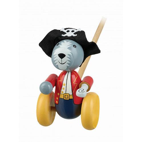 Pirate Dog Push Along