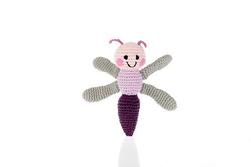Dragonfly - Knitted Baby Rattle - Pebble Toys