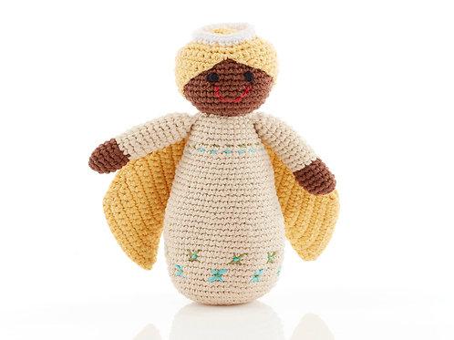 Angel - Crocheted Christmas Rattle - Pebble Toys