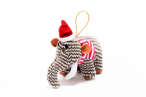 Mammoth - Knitted Christmas Decoration - Pebble Toys