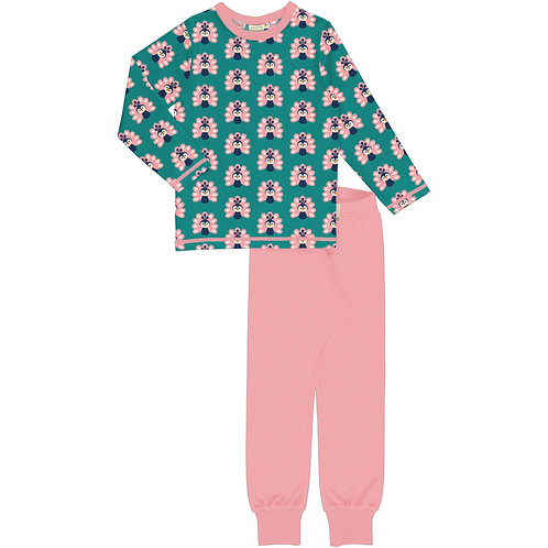 Pyjama Set LS - PEACOCK - Maxomorra