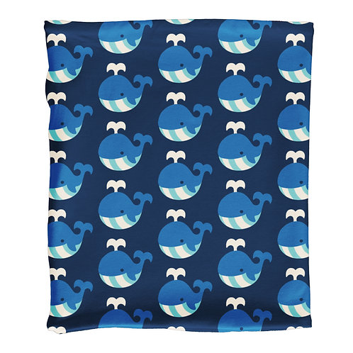 Scarf Tube Velour - WHALE - Maxomorra