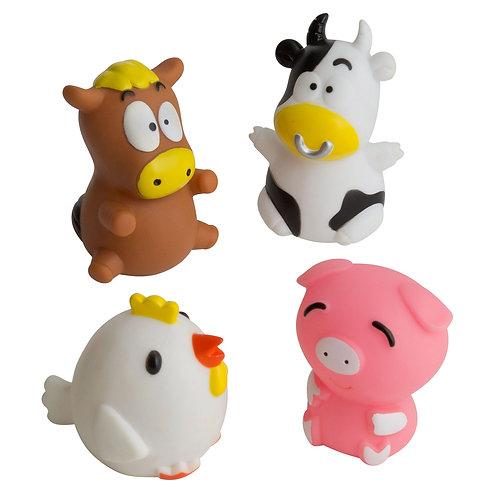 Barn Yard - Bath Toy Set of 4 - Rätt Start