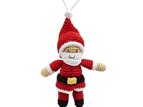 Father Christmas - Knitted Christmas Decoration - Pebble Toys