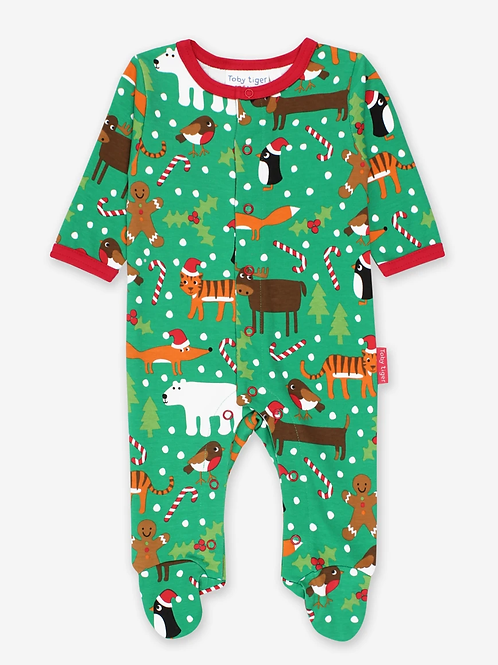 Christmas Sleepsuit - Toby Tiger
