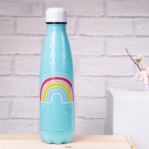 Chasing Rainbows Steel Water Bottle - Sass & Belle