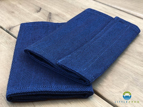 Drool Pads - Navy Herringbone - Little Frog